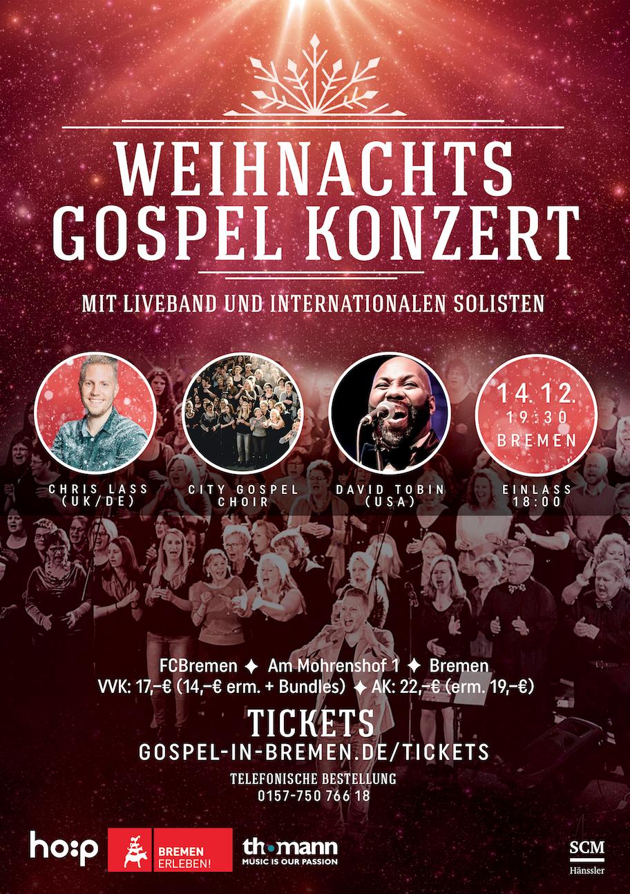 Christmas Gospel Night Bremen 2019 - Weihnachts Gospel Konzert Bremen