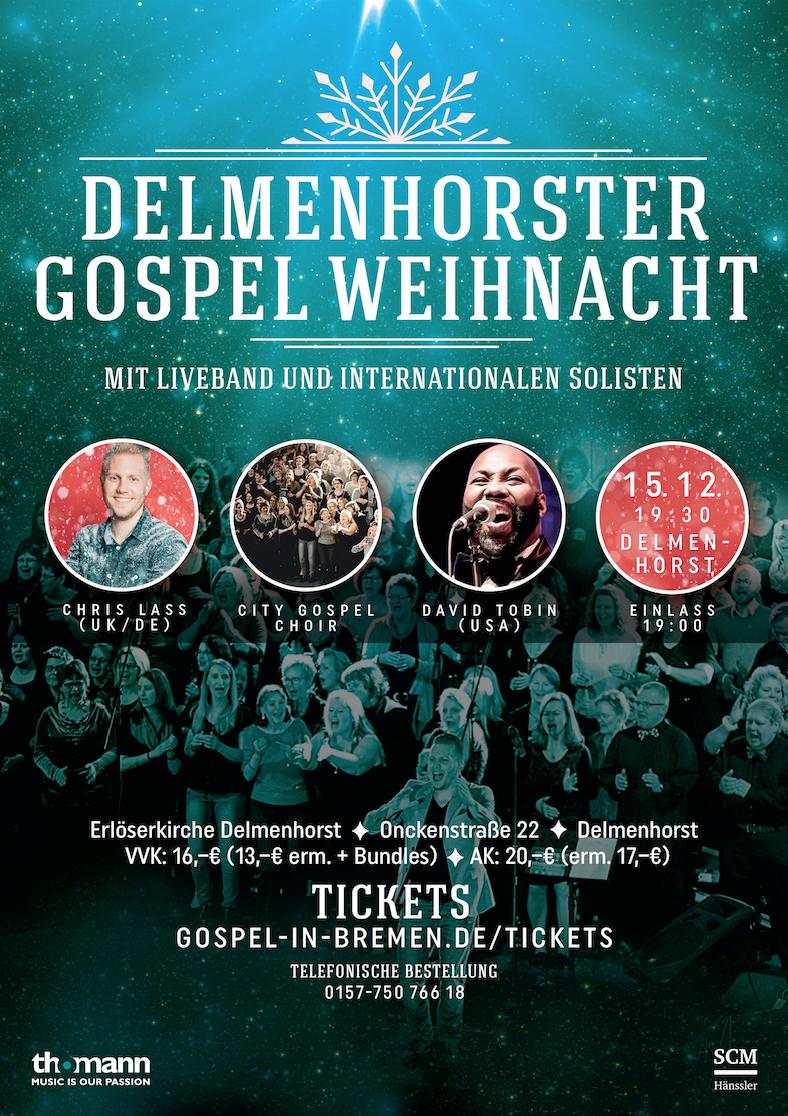 Delmenhorster Gospel Weihnacht 2019 - Christmas Gospel Konzert - Weihnachts Gospel Konzert Delmenhorst