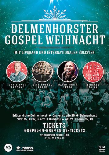 Delmenhorster Gospel Weihnacht 2017 - Christmas Gospel Konzert - Weihnachts Gospel Konzert Delmenhorst
