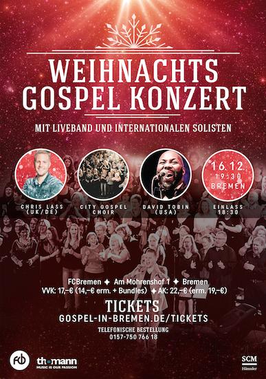 Christmas Gospel Night Bremen 2017 - Weihnachts Gospel Konzert Bremen